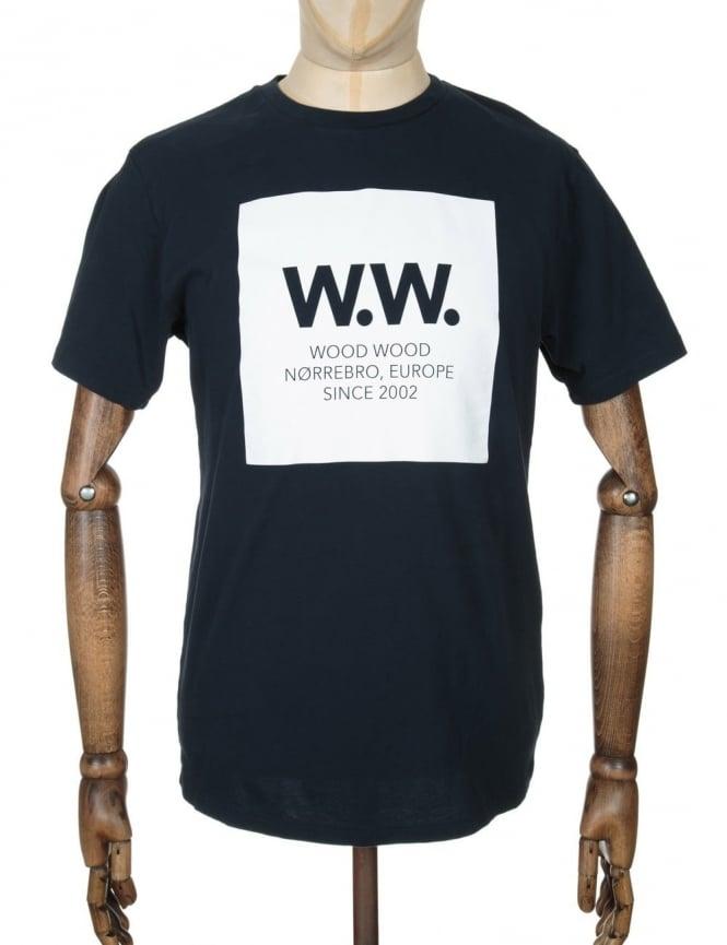 Wood Wood AA Square T-shirt - Total Eclipse
