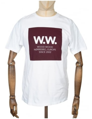 Wood Wood AA Square T-shirt - White