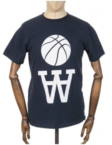 Wood Wood AA Team Logo T-shirt - Black Iris