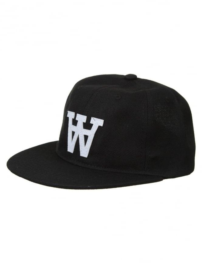 Wood Wood Baseball Cap - Black