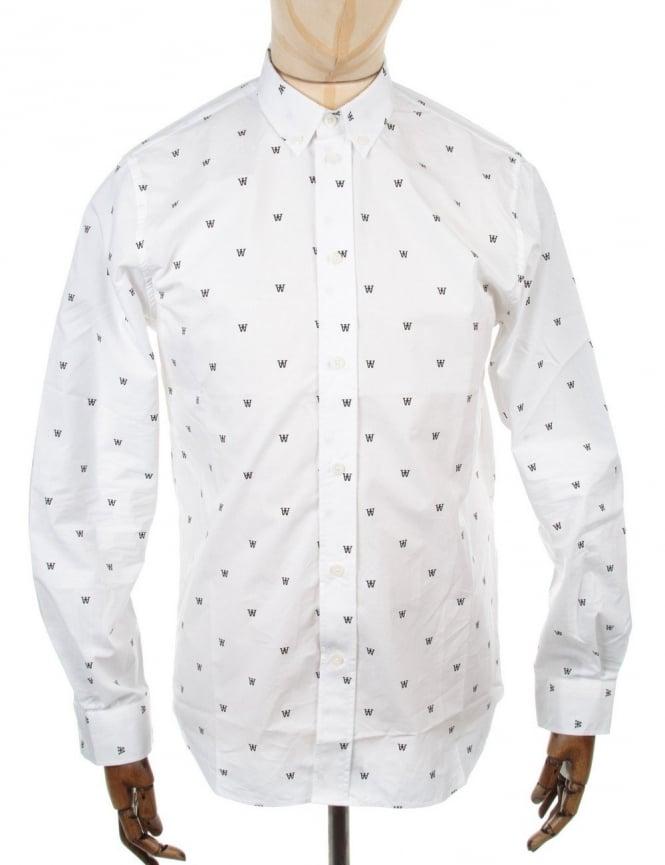 Wood Wood Damien LS Shirt - White
