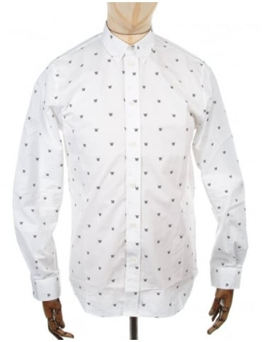 Wood Wood Damien LS Shirt - White