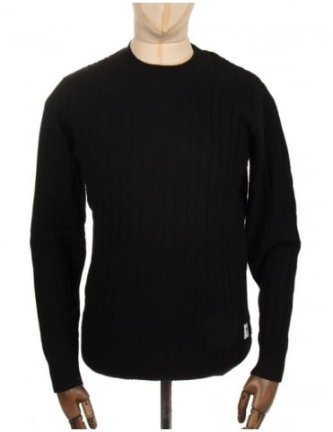 Wood Wood Denton Sweat - Black