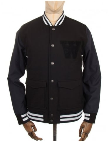 Wood Wood Giles Bomber Jacket - Black