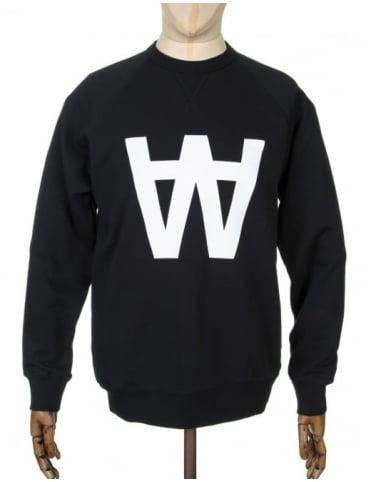 Wood Wood Hester AA Sweatshirt - AA Black