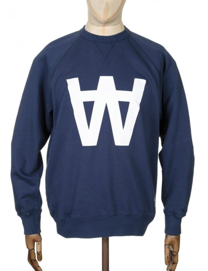 Wood Wood Hester AA Sweatshirt - AA Total Eclipse