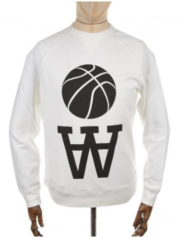 Wood Wood Hester Logo Sweatshirt - White
