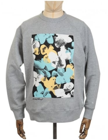 Wood Wood Hester Sweatshirt - Painting Grey