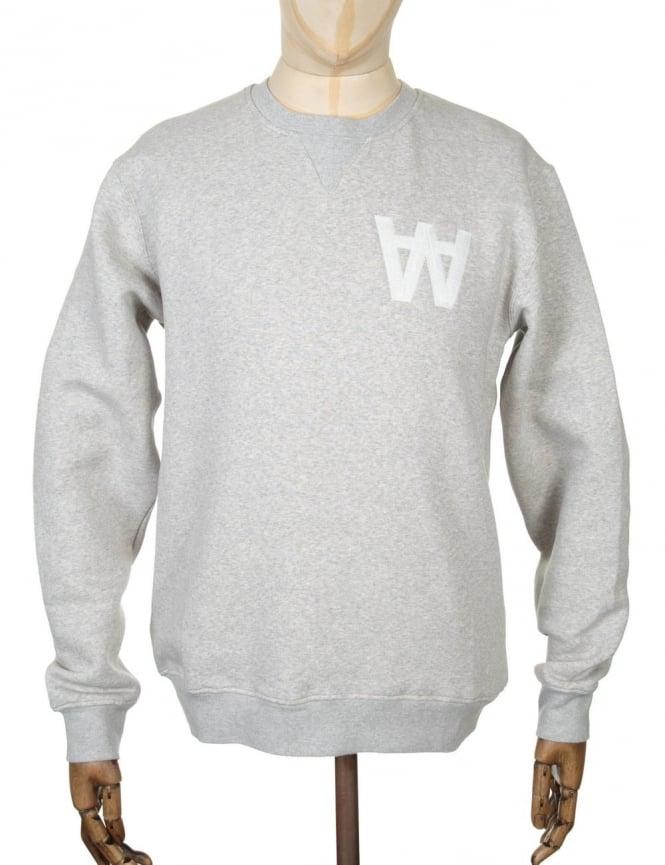 Wood Wood Houston Sweatshirt - AA Heather Grey