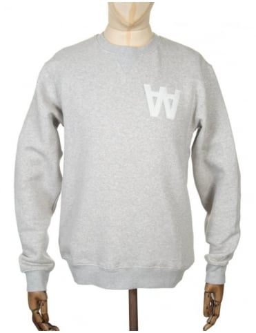 Wood Wood Houston Sweatshirt - AA Heather Grey