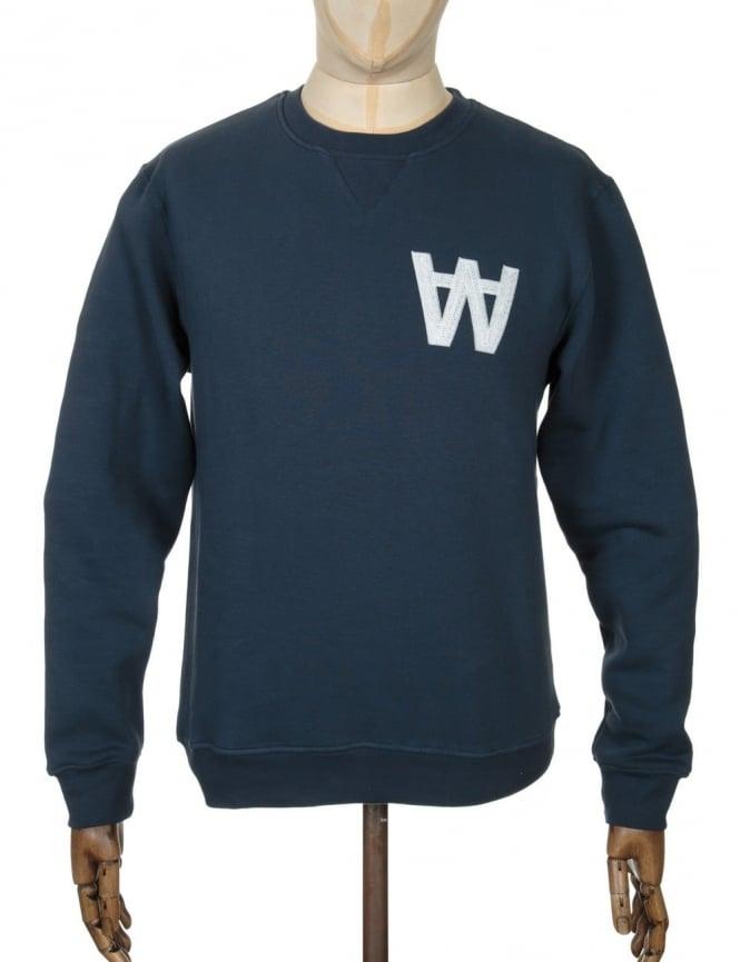 Wood Wood Houston Sweatshirt - AA Total Eclipse