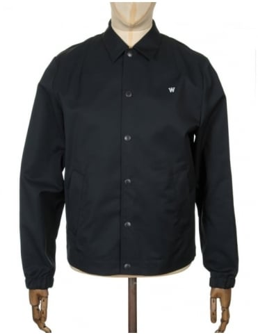 Wood Wood Kael Workwear Jacket - Solid Black