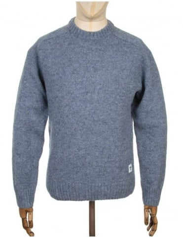 Wood Wood Kevin Jumper - Stone Wash Blue