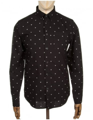 L/S Timothy Logo Shirt - AA Black