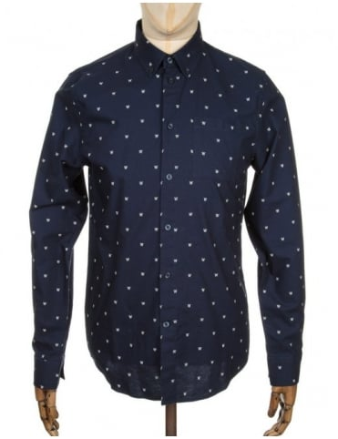 L/S Timothy Logo Shirt - AA Navy