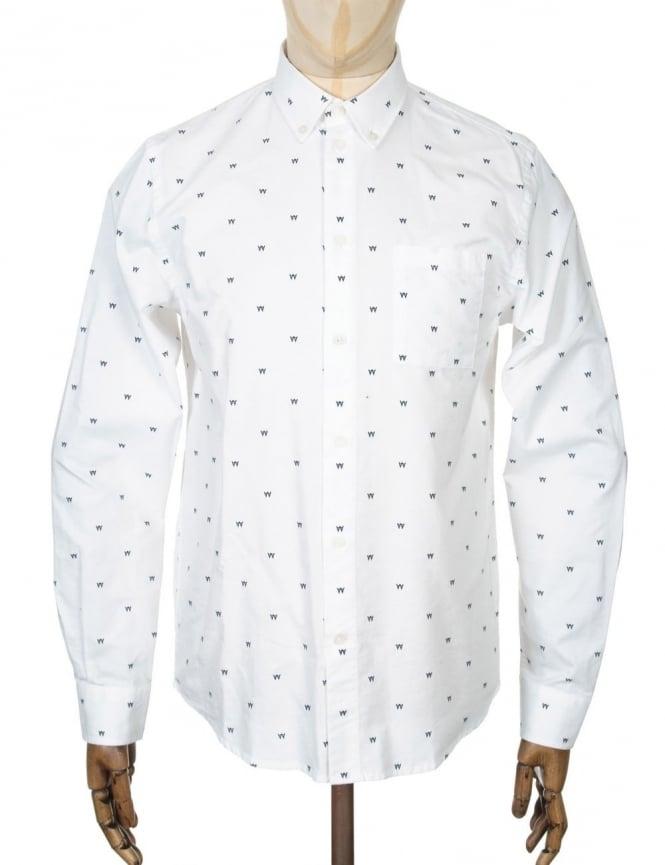 Wood Wood L/S Timothy Shirt - AA Box White