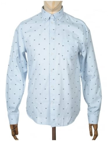 Wood Wood L/S Timothy Shirt - AA Light Blue