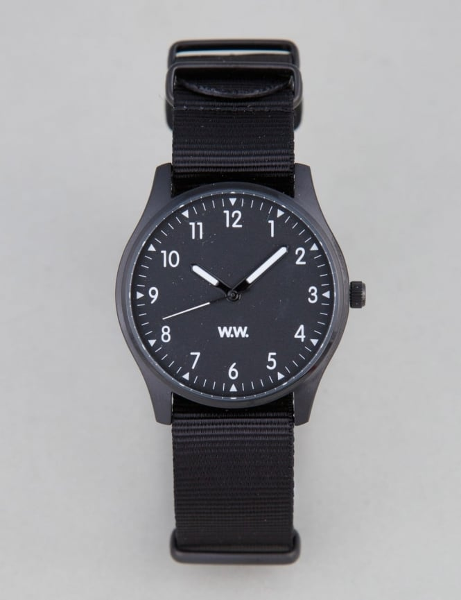 Wood Wood Military Watch - Black
