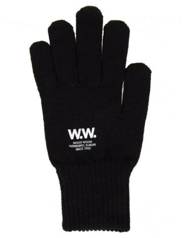 Printed Gloves - Black