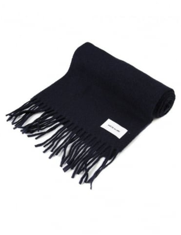 Wood Wood Todd Wool Scarf - Navy Blue