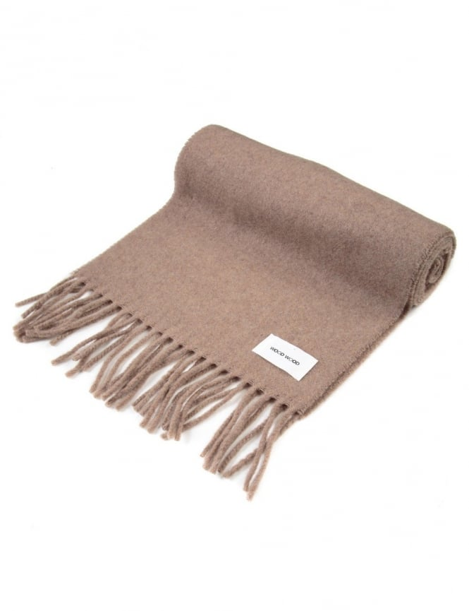 Wood Wood Todd Wool Scarf - Tanin Brown