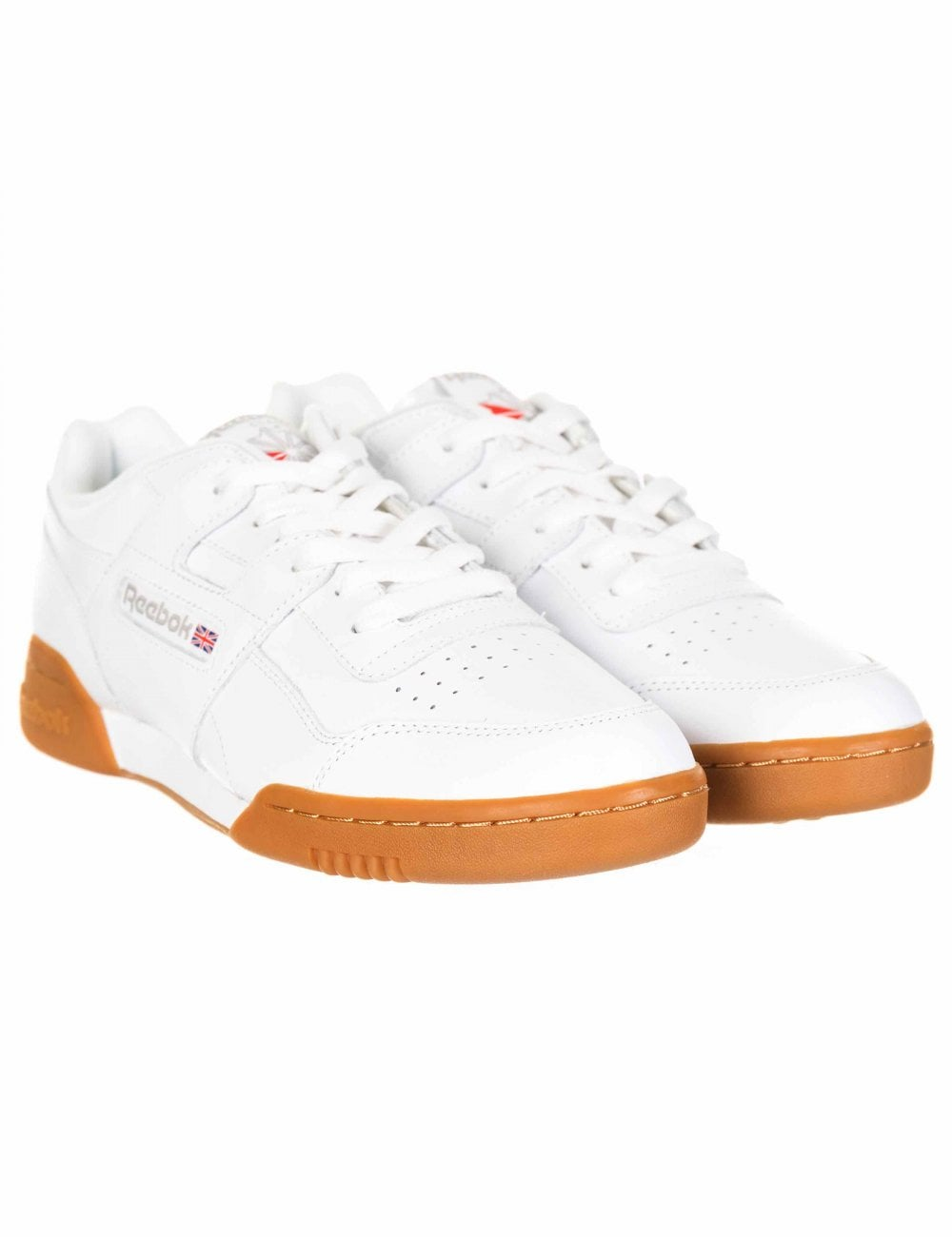 72d912f524411 Reebok Workout Plus Trainers - White Carbon Red - Footwear from Fat Buddha  Store UK
