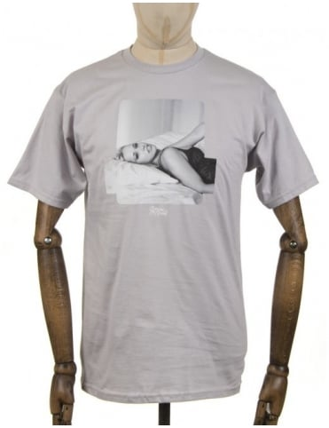 Angela T-shirt - Silver Grey
