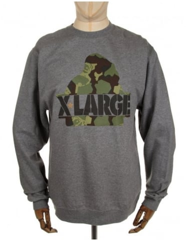 Camo G Crewneck Sweatshirt - Heather Grey