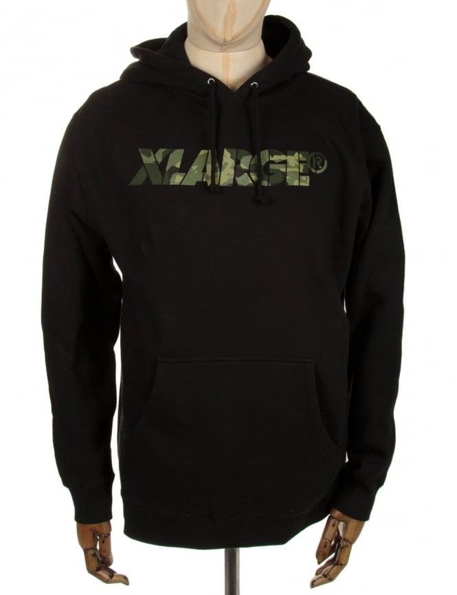 XLarge Camo G Hooded Sweat - Black