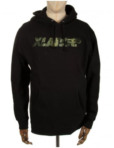 XLarge Camo G Hooded Sweat - Black
