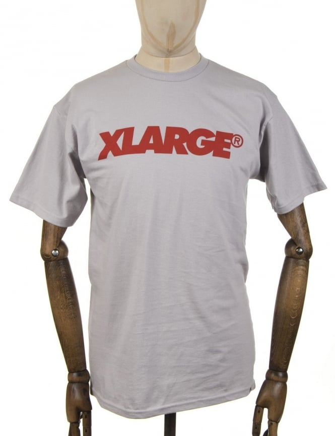 XLarge Slanted Logo T-shirt - Silver Grey